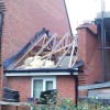 Garage Roof Stripped And Ready To Be Remove